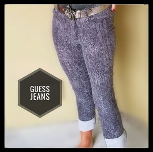 GUESS Snakeskin Print Jeans
